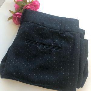 Ann Taylor black wool blend w dots pants size 6